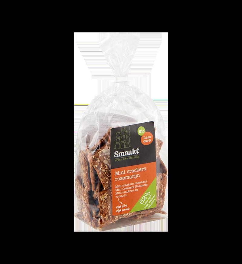 Mini crackers rozemarijn koolhydraatarme producten