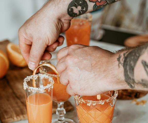 Juicy Details Orange Splash cocktail