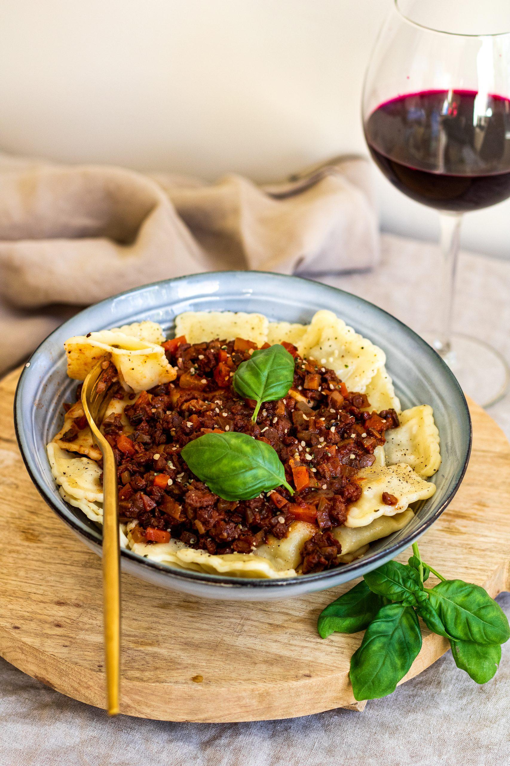 Tortillini met bolognesesaus